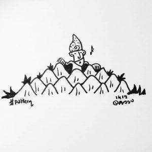 Dont know 🤪🎶🥳 #inktober2019 #inktober #gnome #pommedepin #pattern 🎶🎵💤