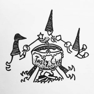 In the morning, when you are lost, and alone, why not to share some ink ? Some inktober of a royale fondue with friends ? 🧀🍯🍽👌 . . #inktober2019 #inktober #tasty #gnome #gnomelife #friends #heart #diamond #stars #fondue #cheese